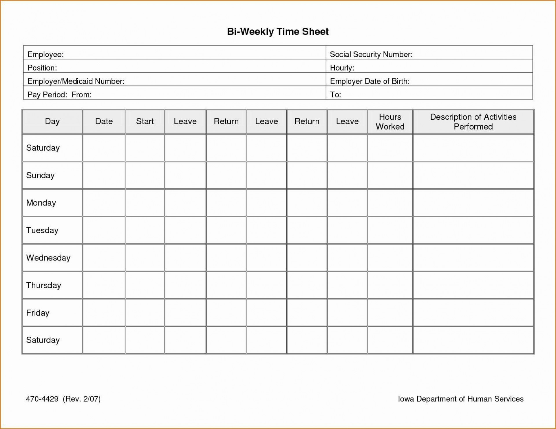 003 Excellent Free Weekly Timesheet Template Example  For Multiple Employee Biweekly Excel With Formula1920