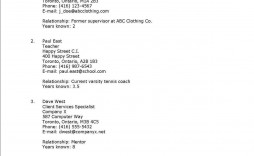 003 Excellent List Of Work Reference Template Image  Job Professional Example Format