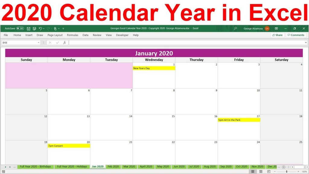 003 Excellent Microsoft Excel Calendar Template Idea  Office 2013 M Yearly 2019Large