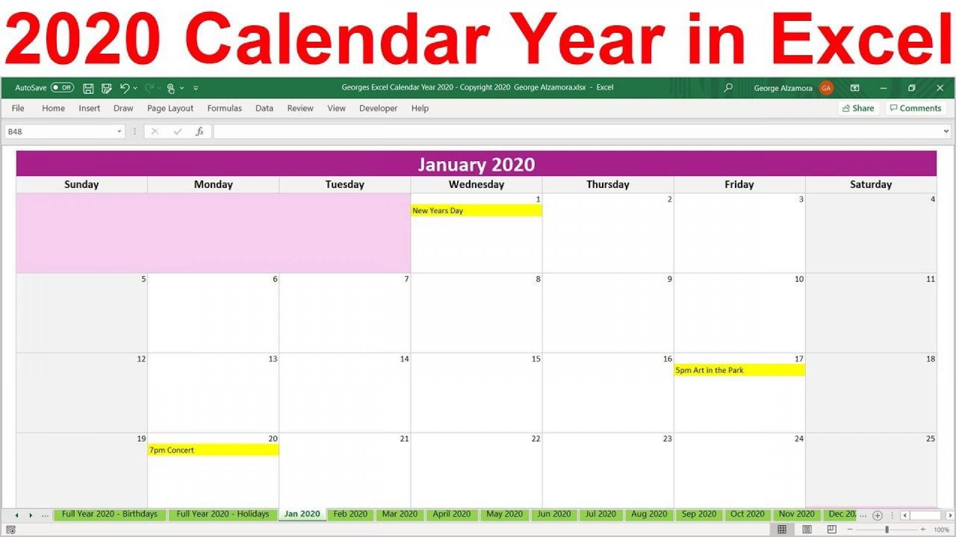 003 Excellent Microsoft Excel Calendar Template Idea  Office 2013 M Yearly 20191920