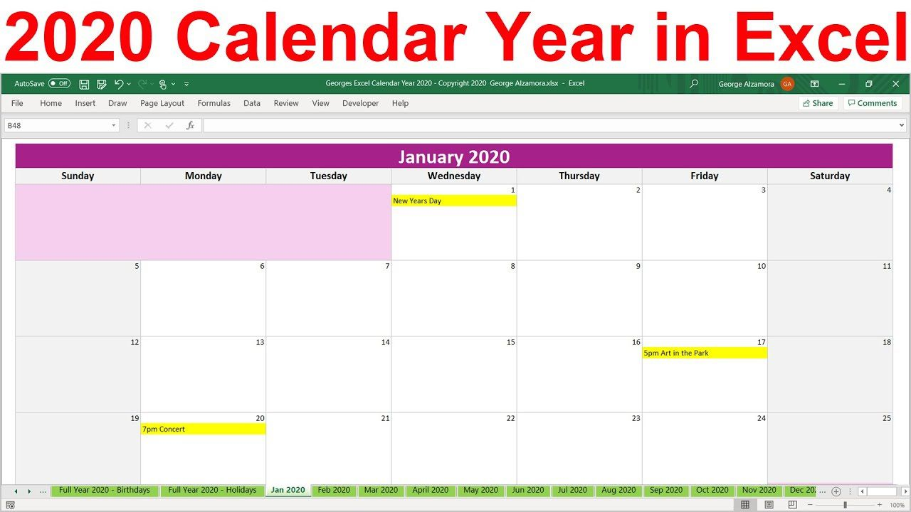 003 Excellent Microsoft Excel Calendar Template Idea  Office 2013 M Yearly 2019Full