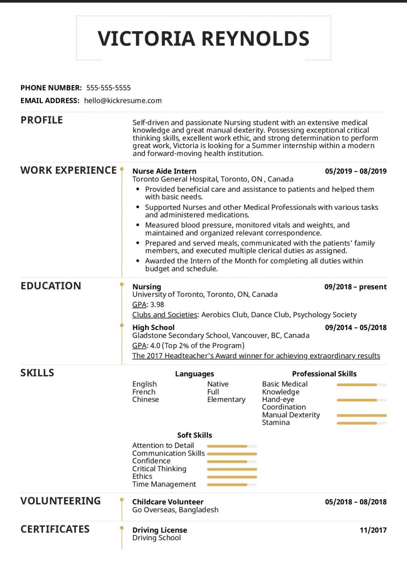 003 Excellent Nursing Student Resume Template Idea  Free Word1400