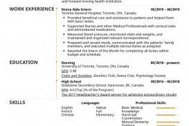 003 Excellent Nursing Student Resume Template Idea  Free Word
