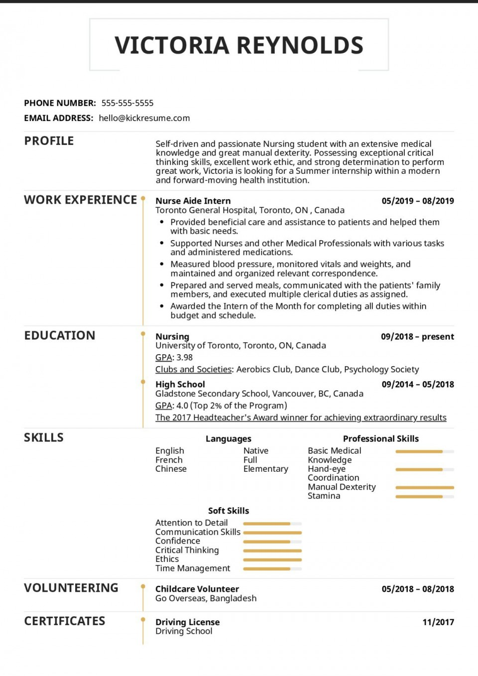 003 Excellent Nursing Student Resume Template Idea  Free Word960