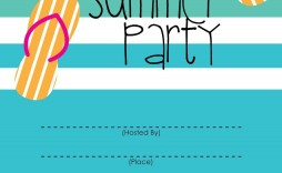 003 Excellent Pool Party Invitation Template Free Idea  Downloadable Printable Swimming