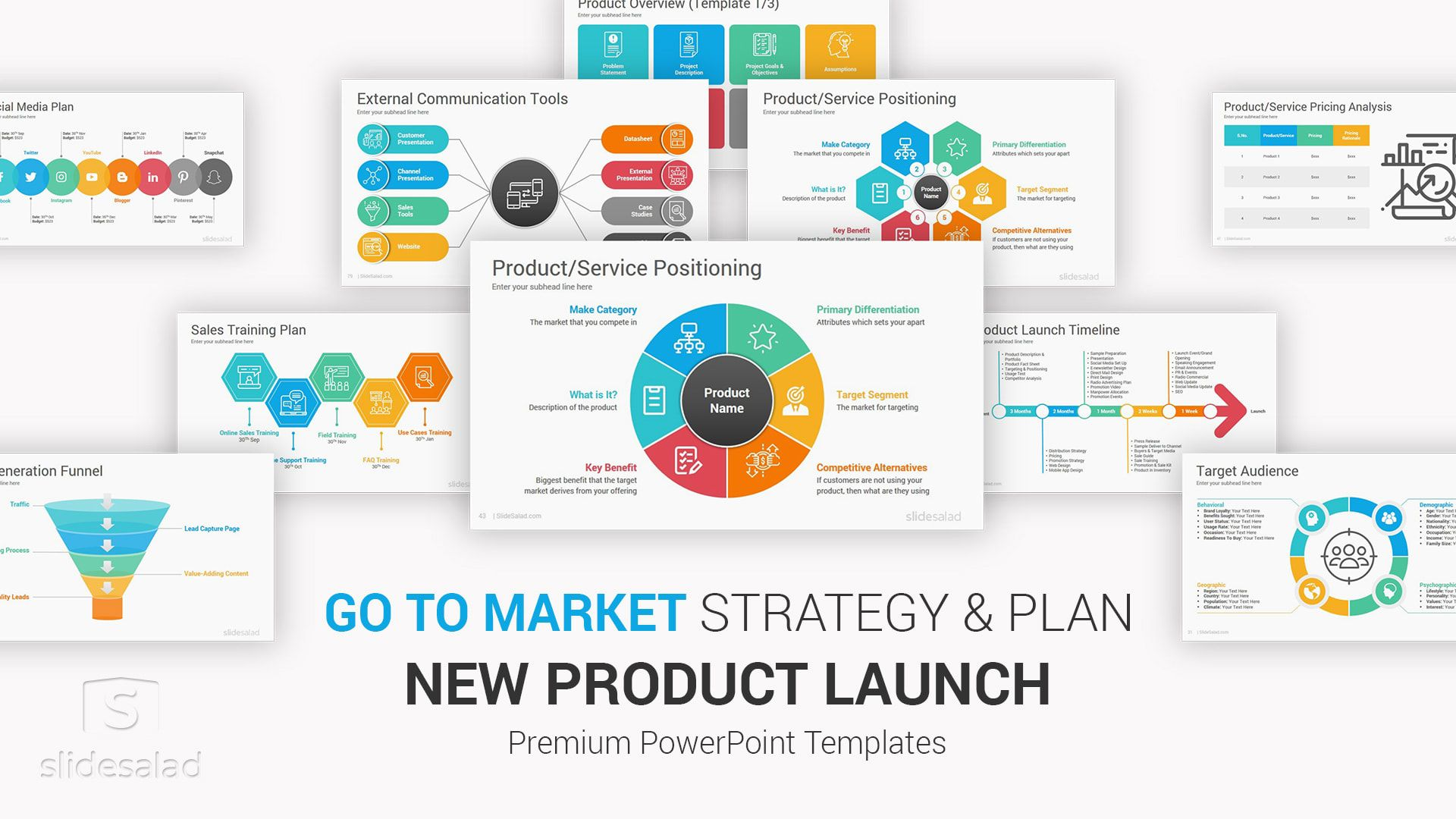 003 Excellent Product Launch Plan Powerpoint Template Free Example Full