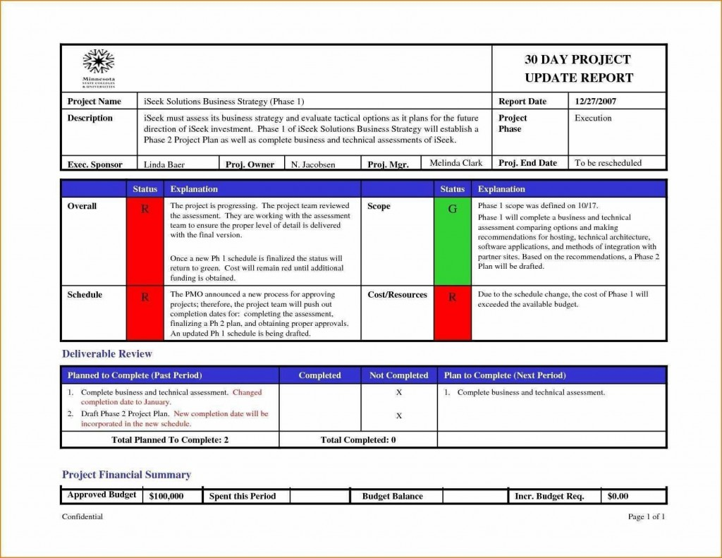 003 Excellent Project Management Weekly Statu Report Template Ppt High Resolution  Template+powerpointLarge