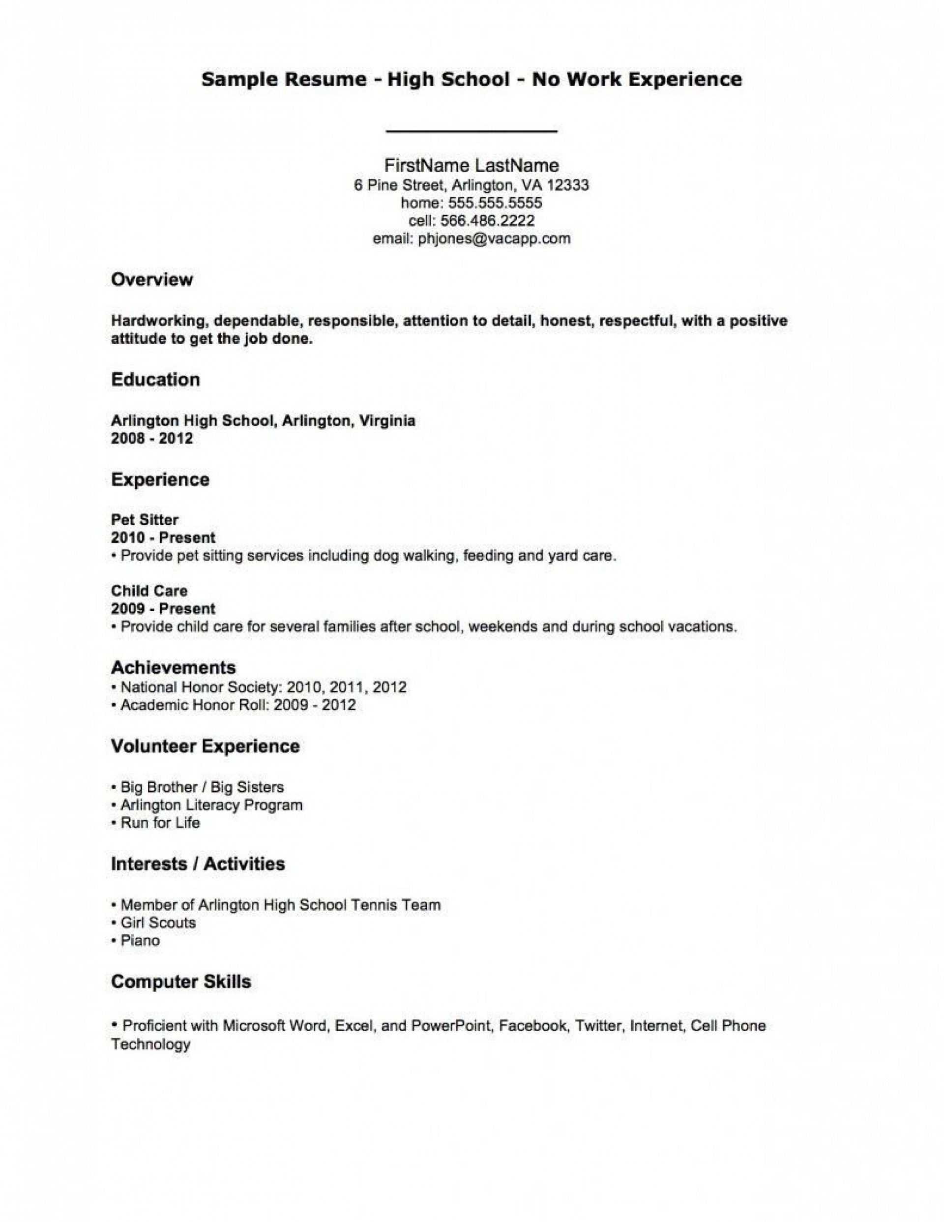 003 Excellent Resume Template For First Job Image  No Experience Student Cv Nz Format1920