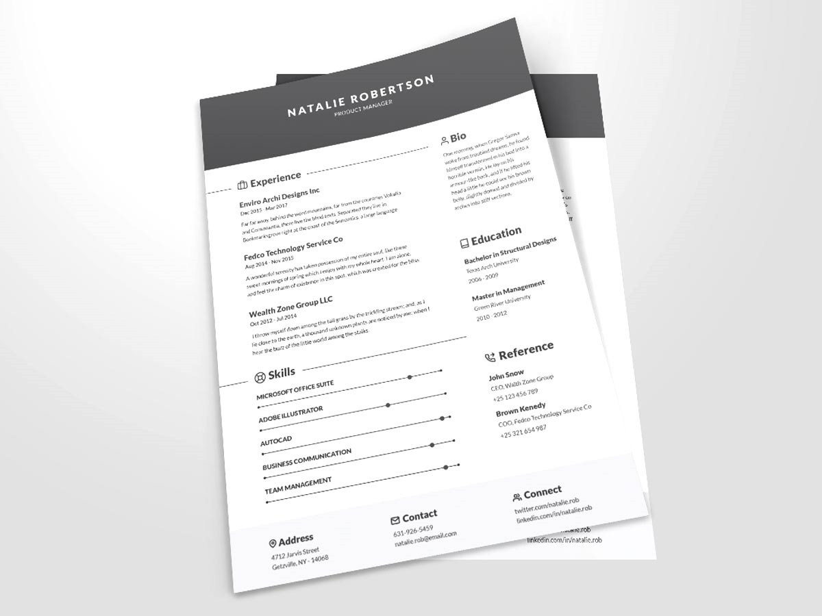 Resume Template Word Free Download ~ Addictionary