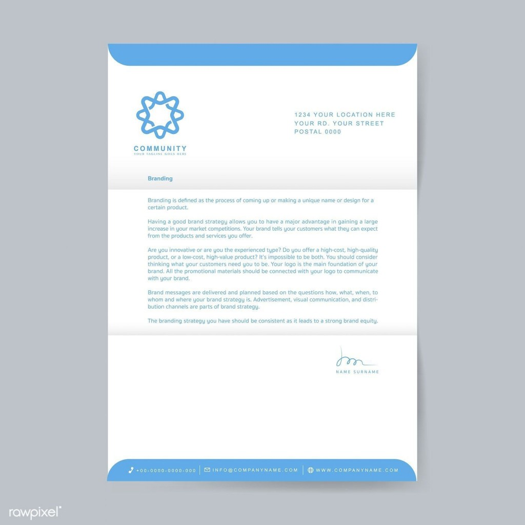 003 Excellent Sample Letterhead Template Free Download Image  Professional Design In Word FormatLarge
