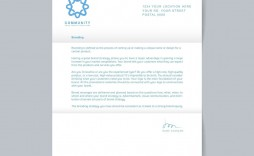 003 Excellent Sample Letterhead Template Free Download Image  Professional Design In Word Format