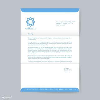 003 Excellent Sample Letterhead Template Free Download Image  Professional Design In Word Format320