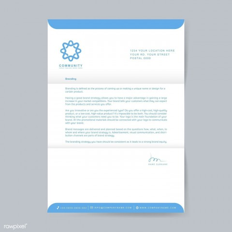003 Excellent Sample Letterhead Template Free Download Image  Professional Design In Word Format480