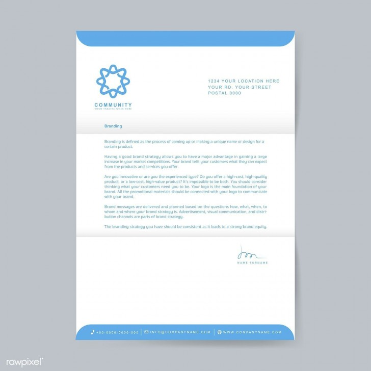 003 Excellent Sample Letterhead Template Free Download Image  Professional Design In Word Format728