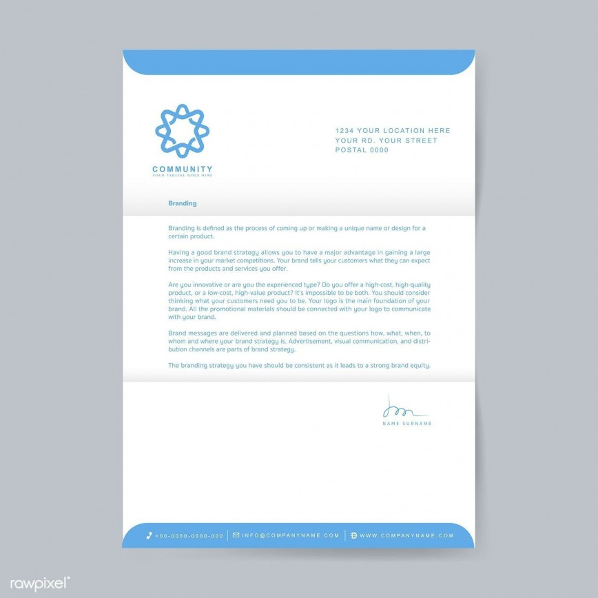 003 Excellent Sample Letterhead Template Free Download Image  Professional Design In Word Format868
