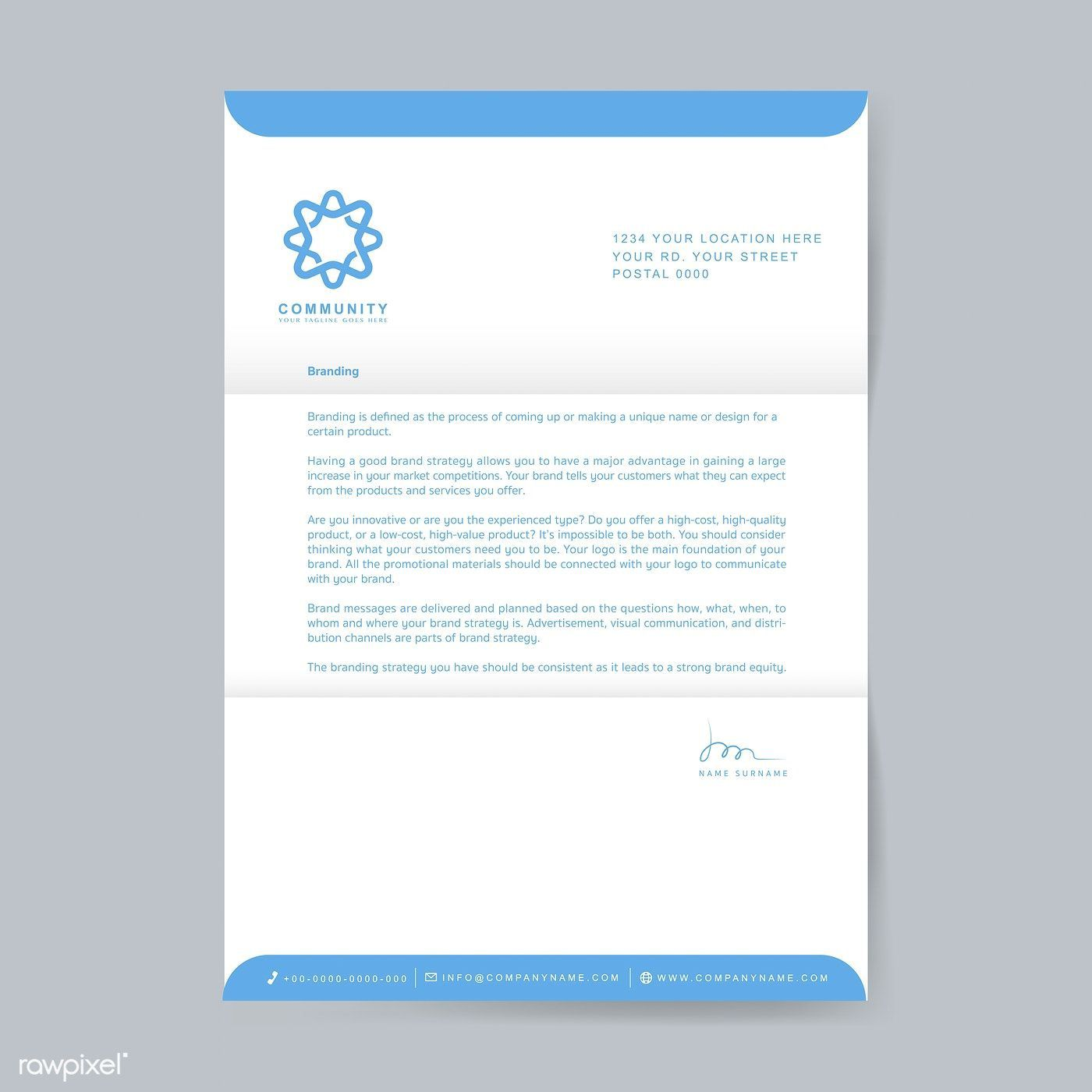 003 Excellent Sample Letterhead Template Free Download Image  Professional Design In Word FormatFull