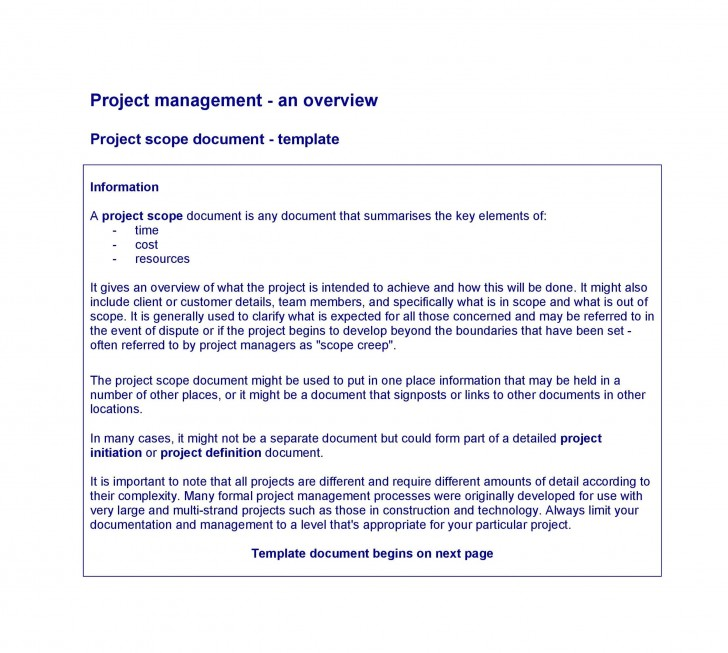 003 Excellent Statement Of Work Example Project Management Image 728