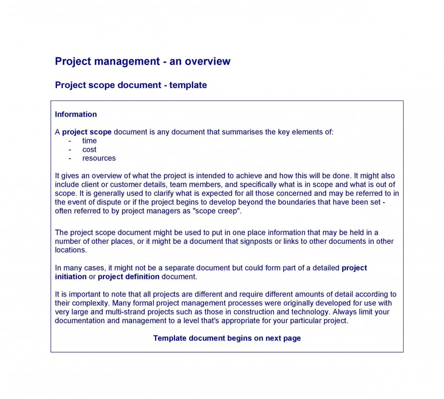003 Excellent Statement Of Work Example Project Management Image 868
