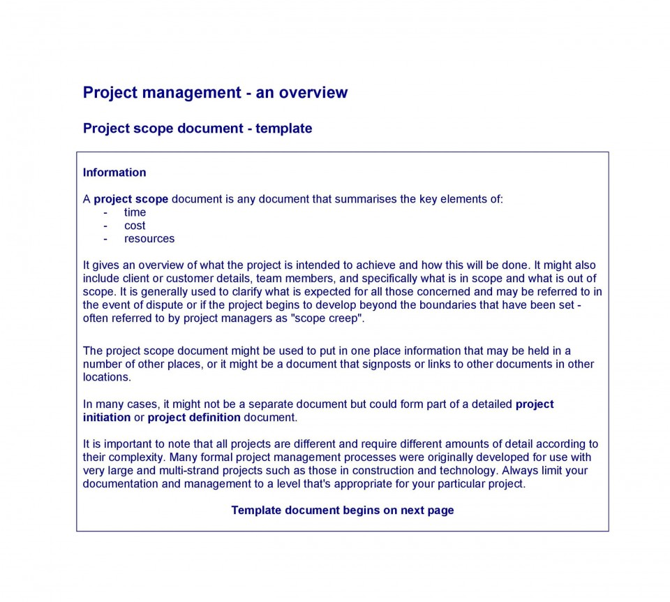 003 Excellent Statement Of Work Example Project Management Image 960