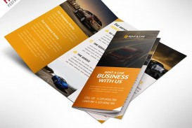 003 Excellent Three Fold Brochure Template Psd Photo  Free 3 A4 Tri Download