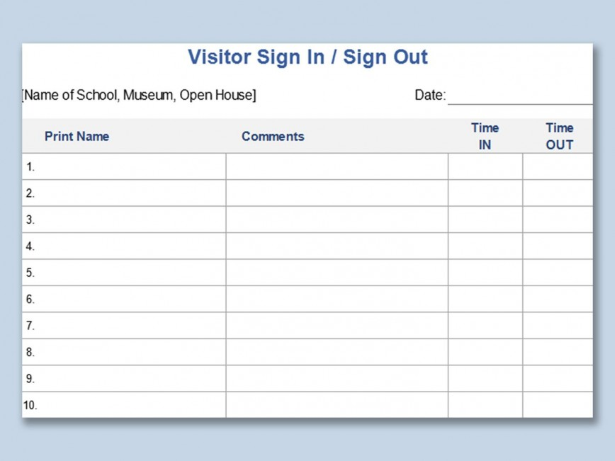 003 Excellent Visitor Sign In Sheet Template High Definition  Busines Pdf868