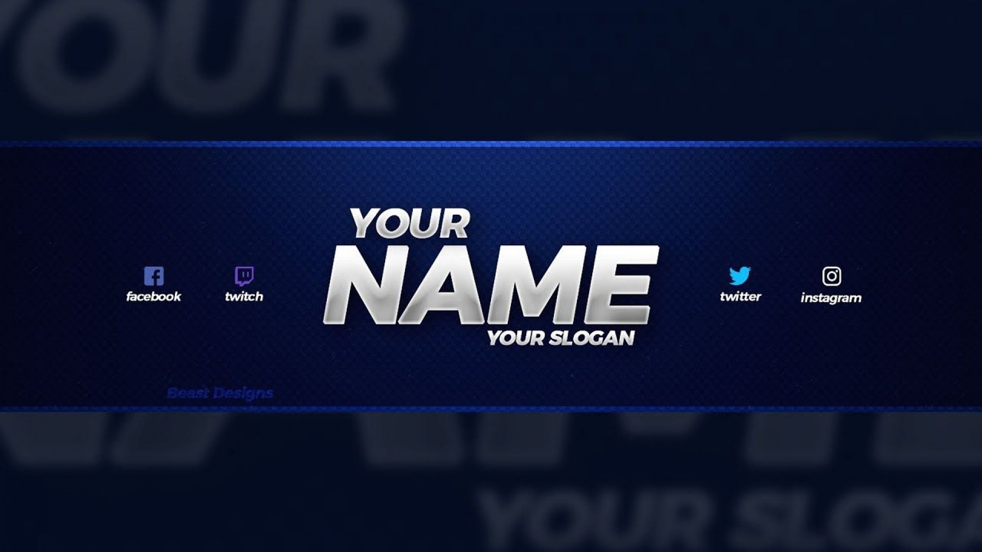 003 Excellent Youtube Channel Art Template Photoshop Download Inspiration 1920
