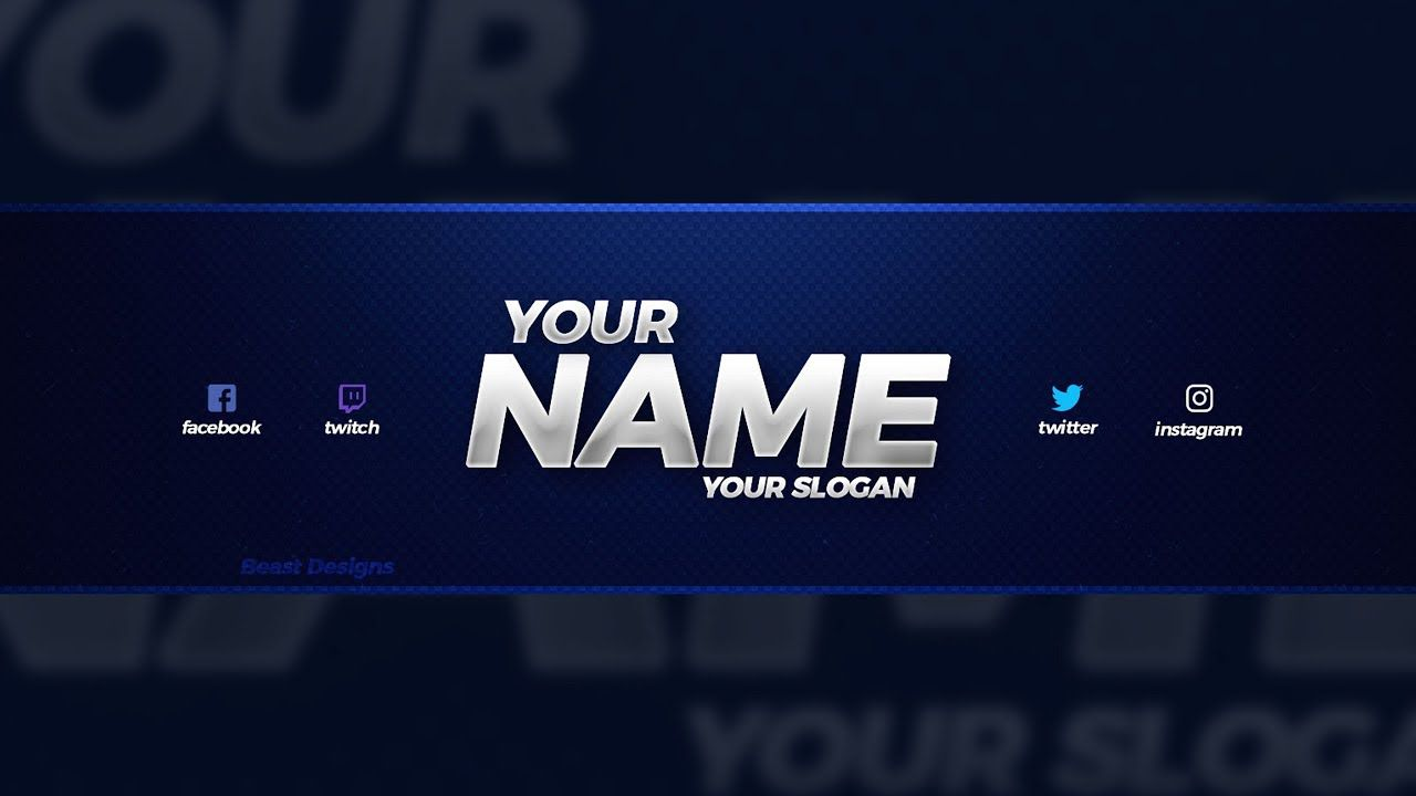 003 Excellent Youtube Channel Art Template Photoshop Download Inspiration Full