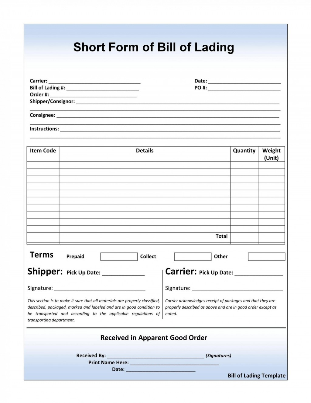 003 Exceptional Bill Of Lading Template Microsoft Word Image Large