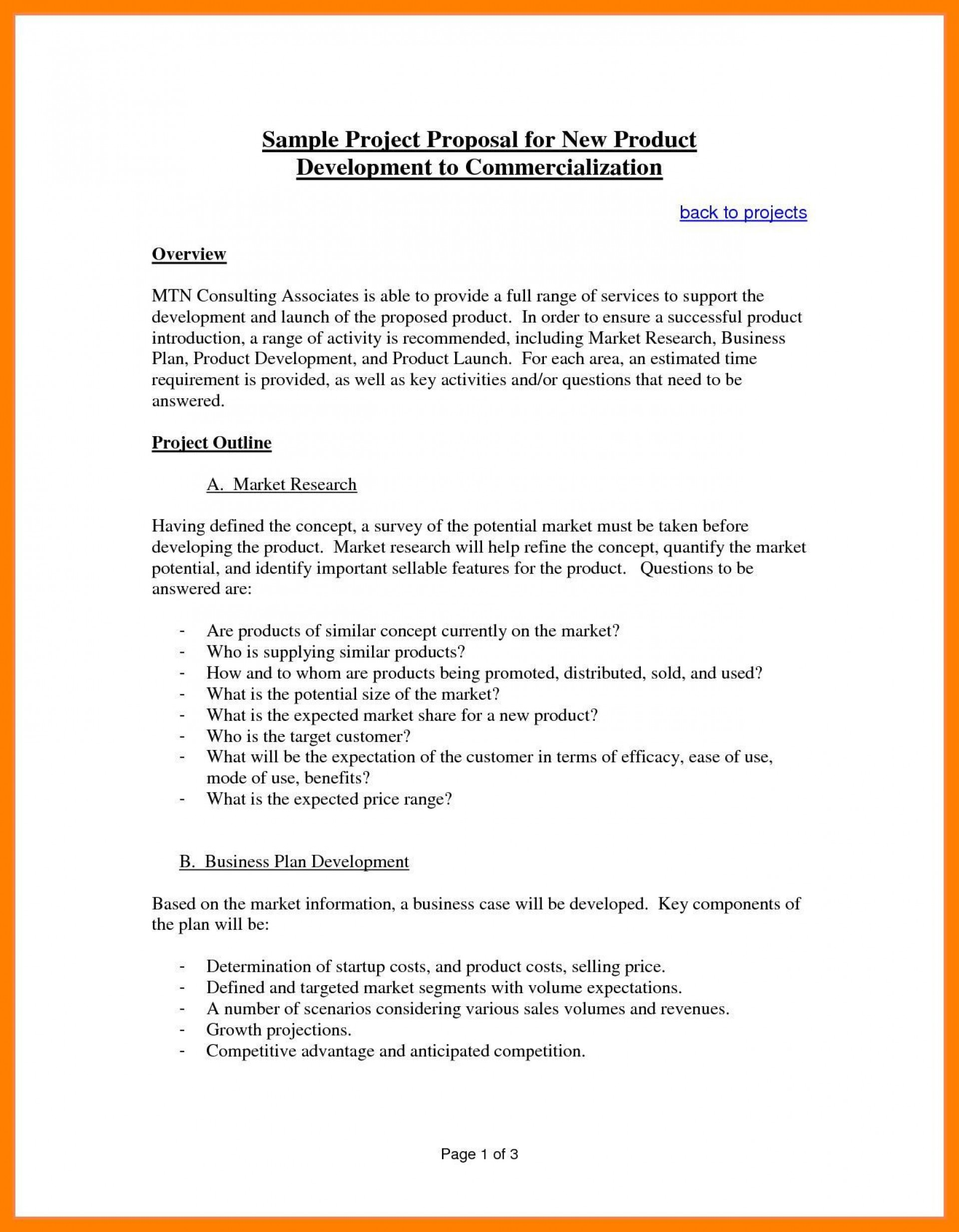 003 Exceptional Busines Proposal Sample Pdf Free Download Idea  Project1920