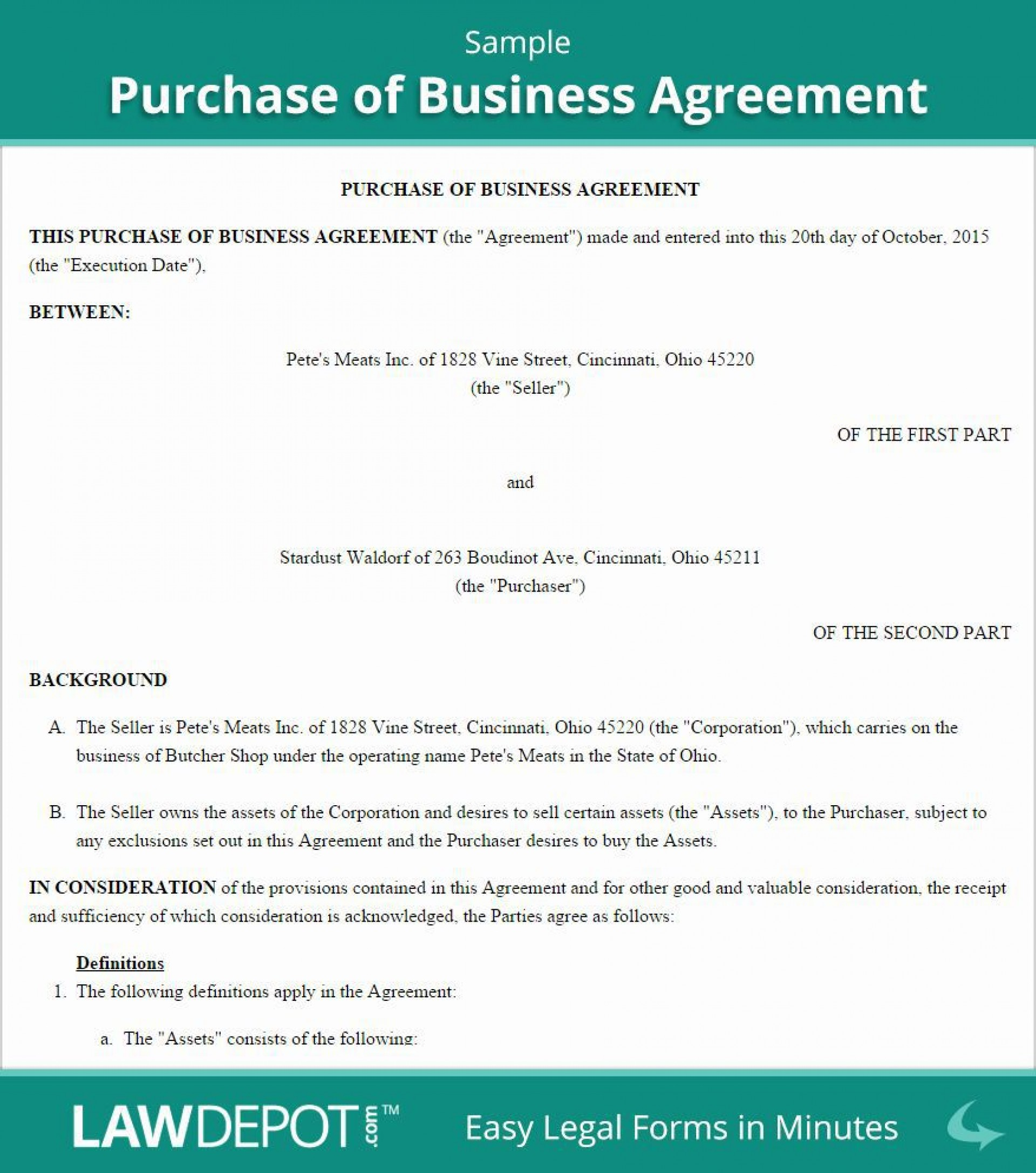 003 Exceptional Busines Sale Agreement Template Free Download High Definition  Uk Nz Simple1920