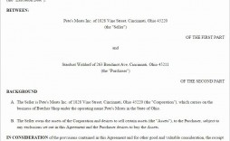 003 Exceptional Busines Sale Agreement Template Free Download High Definition  Uk Nz Simple