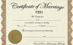 003 Exceptional Certificate Of Marriage Template Highest Clarity  Word Australia