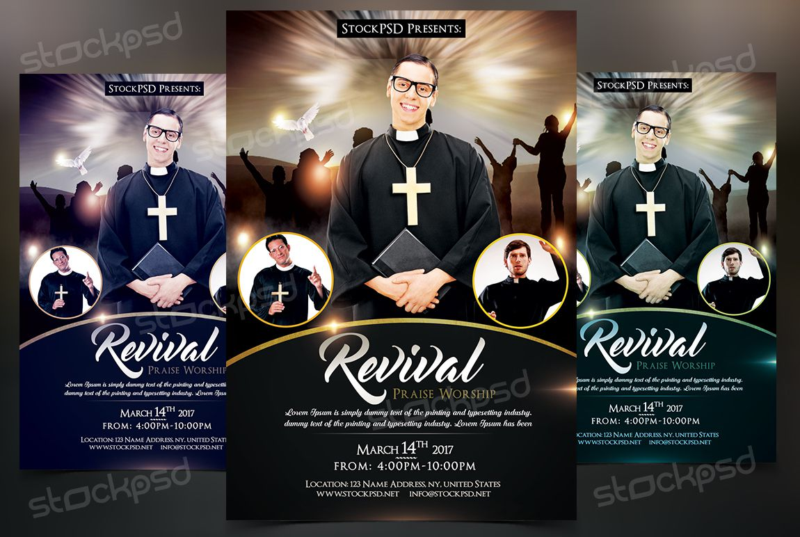 003 Exceptional Church Flyer Template Free High Def  Easter Anniversary Conference PsdFull
