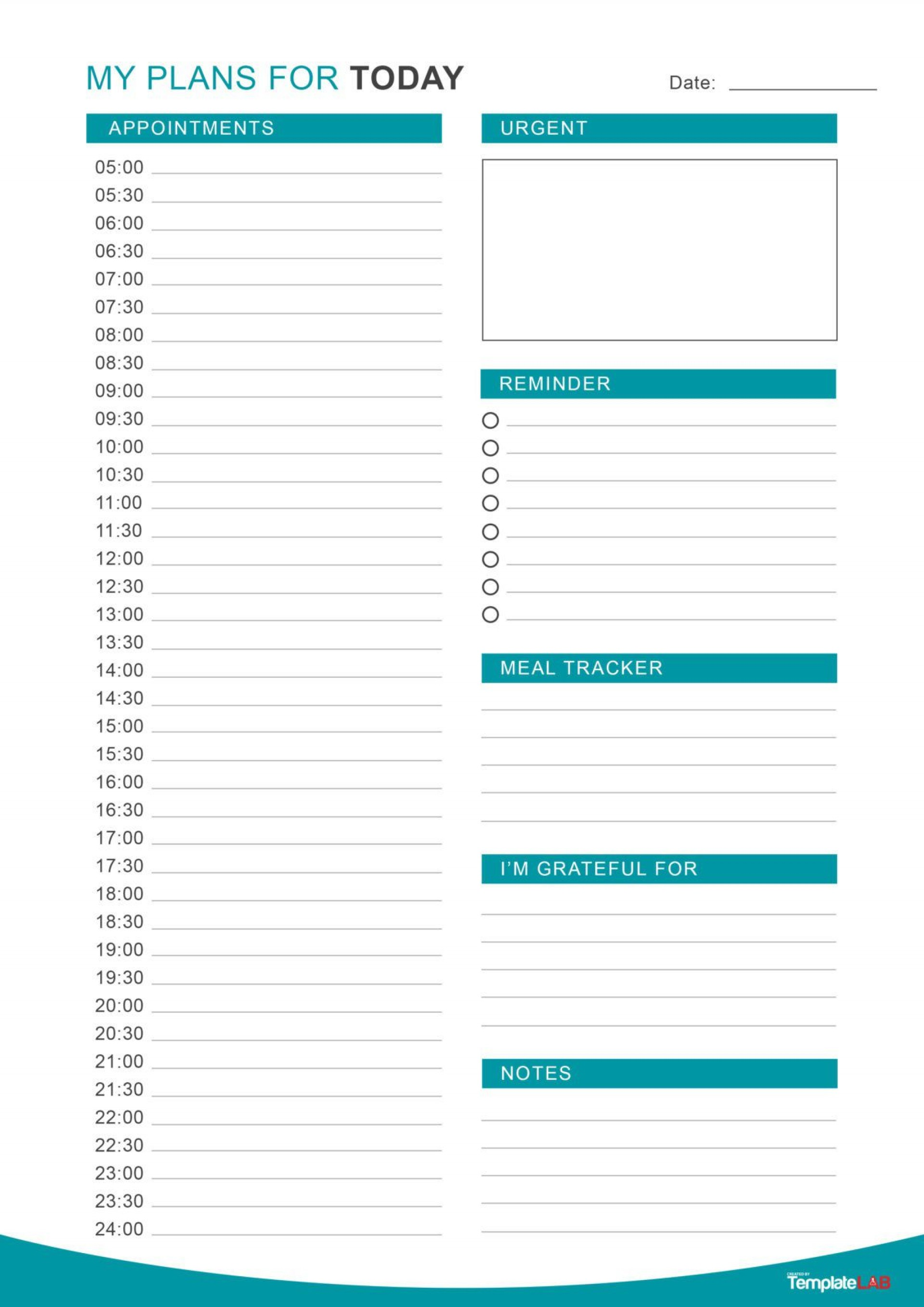 003 Exceptional Daily Hourly Schedule Template Word Idea 1920