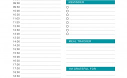 003 Exceptional Daily Hourly Schedule Template Word Idea