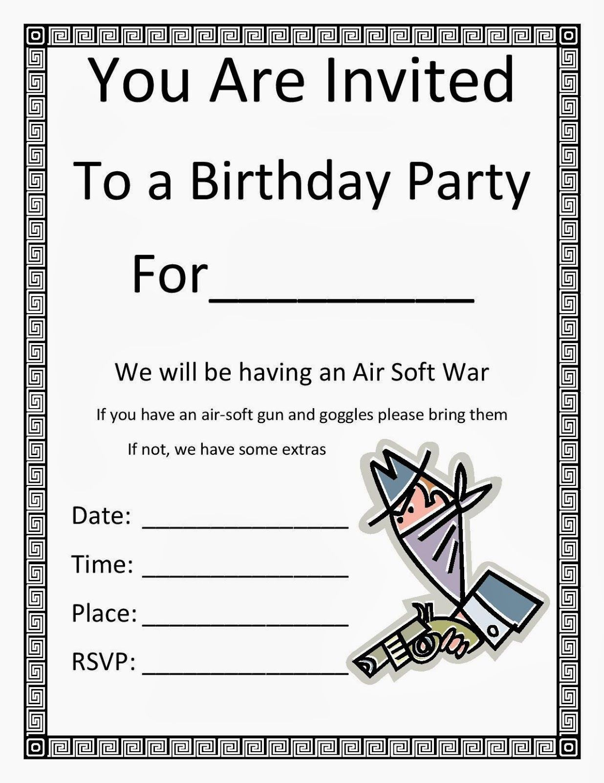 003 Exceptional Free Birthday Party Invitation Template For Word Sample Full