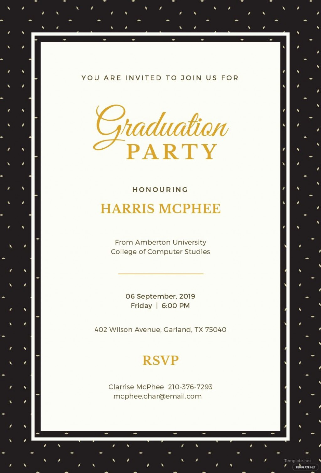 003 Exceptional Free Graduation Announcement Template High Resolution  Templates For Word MicrosoftLarge