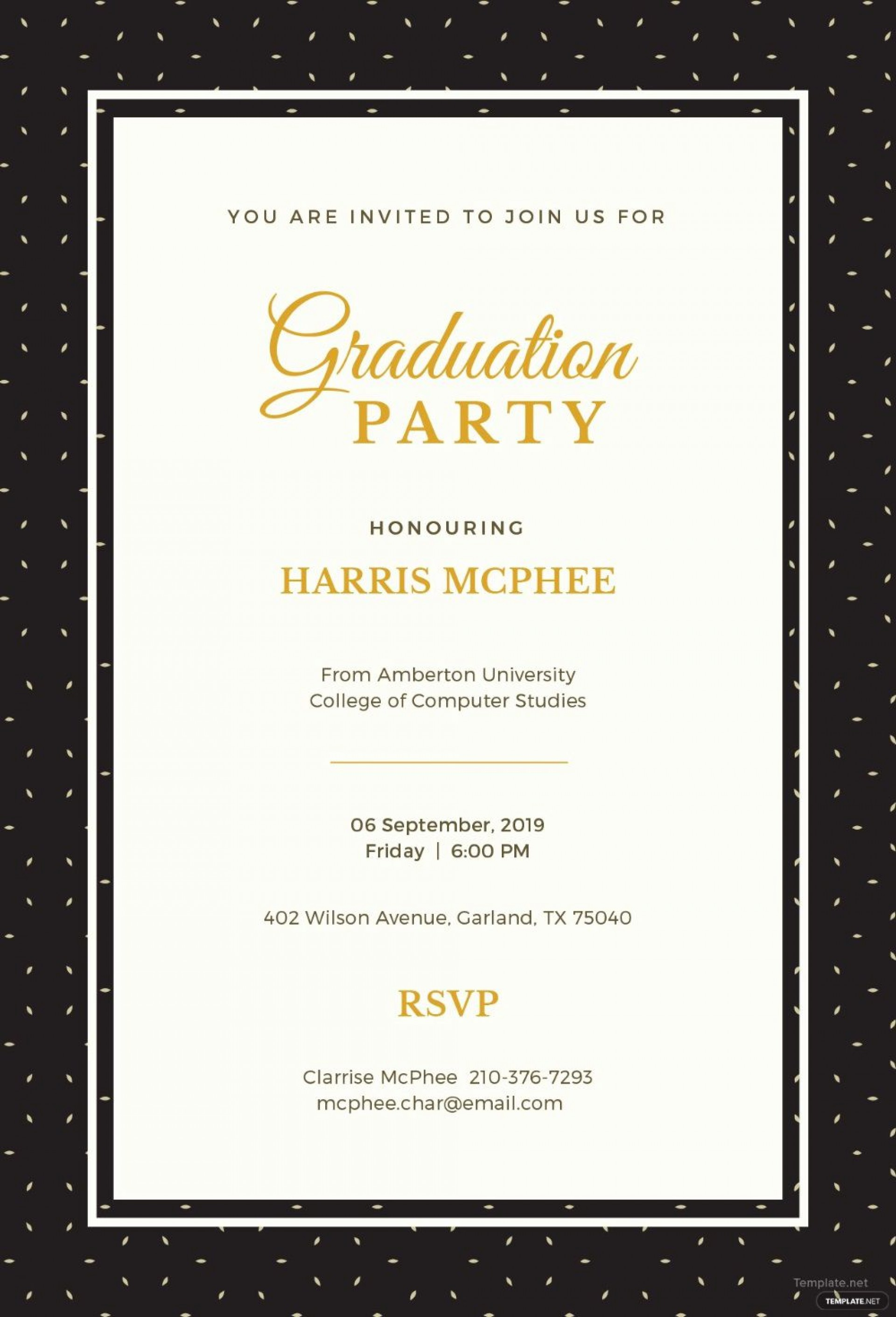 003 Exceptional Free Graduation Announcement Template High Resolution  Templates For Word Microsoft1920