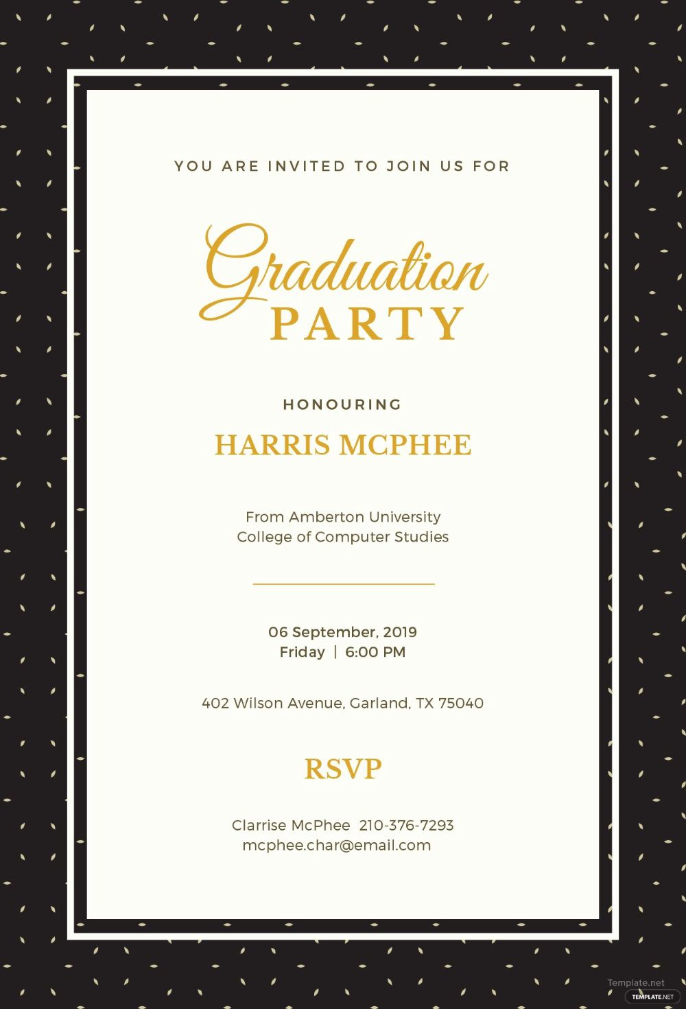 003 Exceptional Free Graduation Announcement Template High Resolution  Templates For Word MicrosoftFull