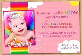 003 Exceptional Free Online 1st Birthday Invitation Card Maker For Twin Highest Clarity