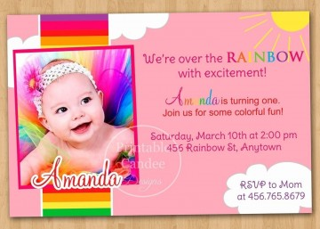 003 Exceptional Free Online 1st Birthday Invitation Card Maker For Twin Highest Clarity 360