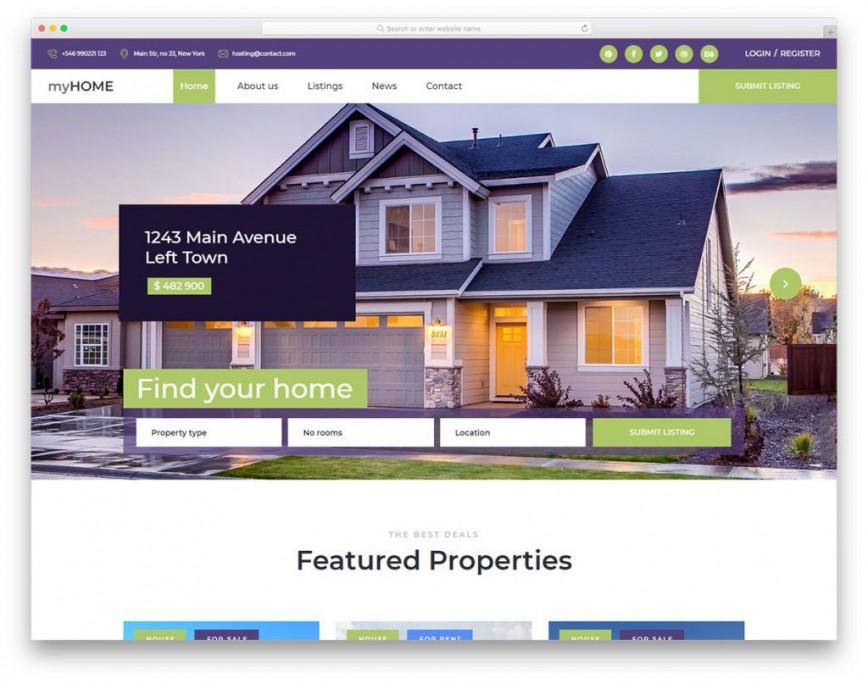 Free Real Estate Website Templates Addictionary