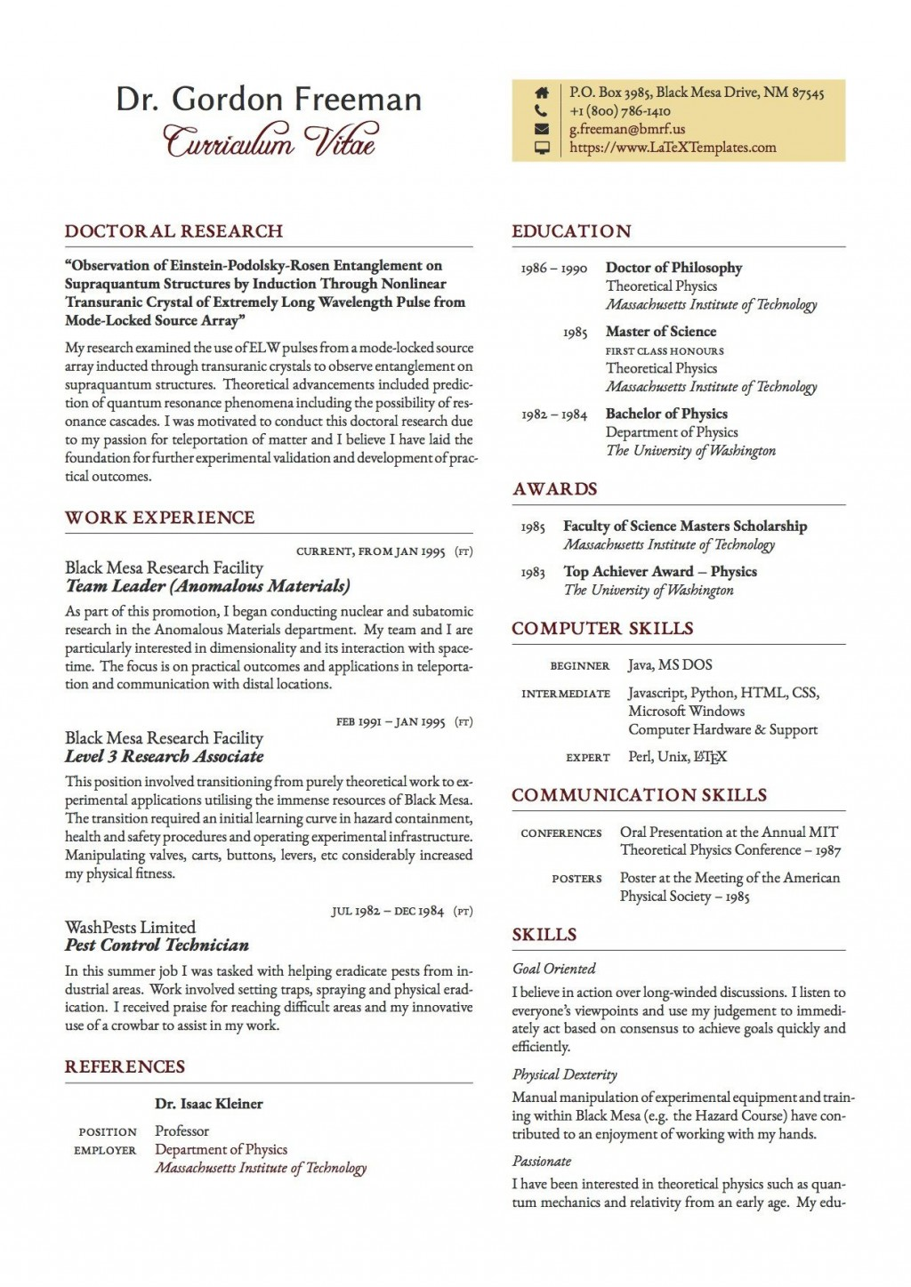 003 Exceptional Latex Resume Template Phd Inspiration  Cv Graduate Student EconomicLarge