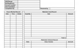 003 Exceptional Maintenance Work Order Template Design  Form Free Sample