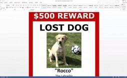 003 Exceptional Missing Dog Flyer Template High Resolution  Lost Poster