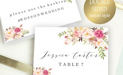 003 Exceptional Name Place Card Template For Wedding High Resolution  Free Word