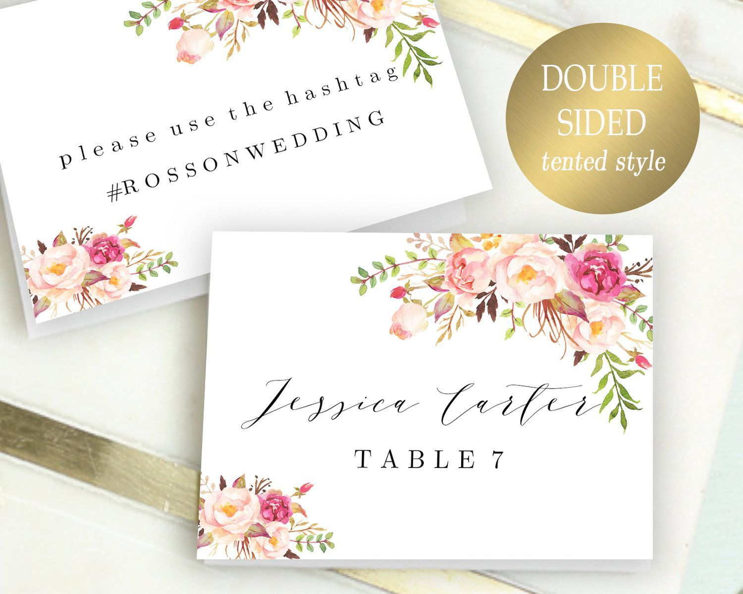 003 Exceptional Name Place Card Template For Wedding High Resolution  Free WordFull