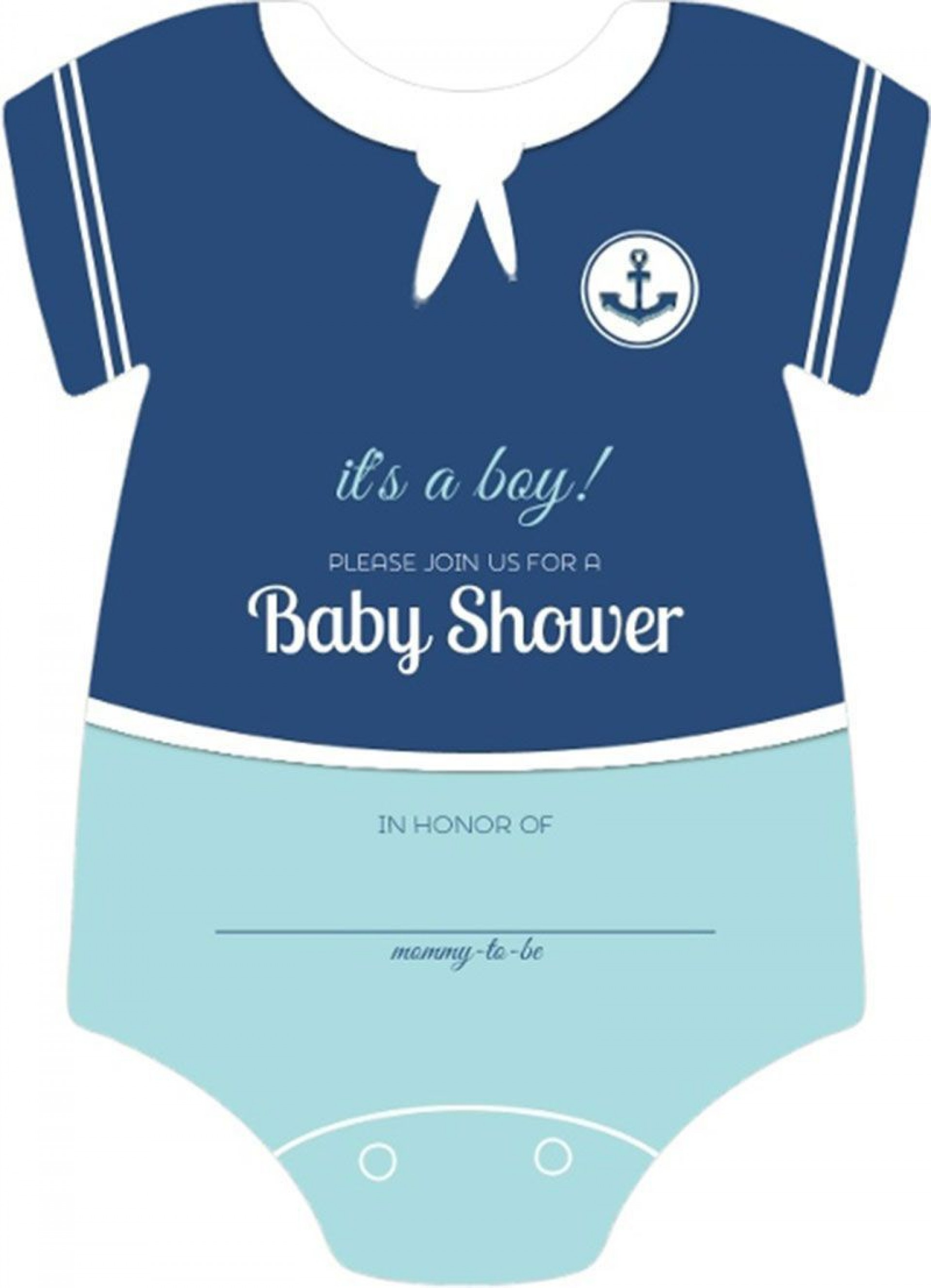 003 Exceptional Onesie Baby Shower Invitation Template Image  Free1920