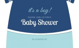 003 Exceptional Onesie Baby Shower Invitation Template Image  Free