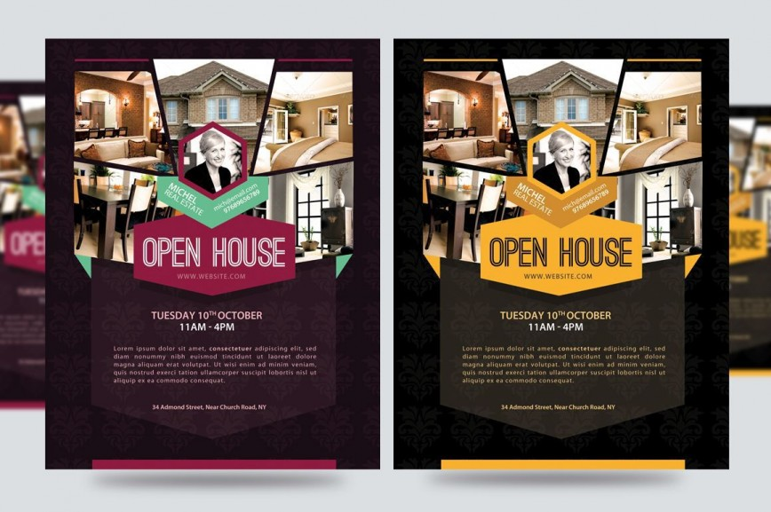 003 Exceptional Open House Flyer Template Free High Def  Christma Word School